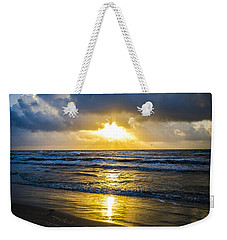 Weekender Tote Bag featuring the photograph End Of The Season Padre 29 by Mez