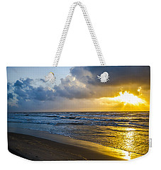 Weekender Tote Bag featuring the photograph End Of The Season Padre 30 by Mez