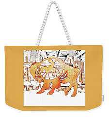 Weekender Tote Bag featuring the photograph End Of The Trail by Larry Campbell