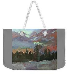 Winter's Last Flame Weekender Tote Bag
