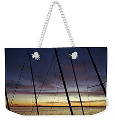 End To A Day Of Sailing  Weekender Tote Bag