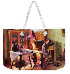 Weekender Tote Bag featuring the painting Ending The Day On A Good Note by Steve Henderson