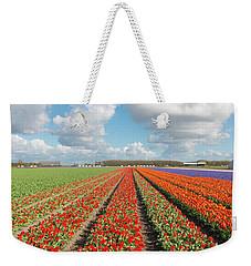 Endless Rows Of Blooming Tulips Weekender Tote Bag