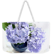 Weekender Tote Bag featuring the photograph Endless Summer Hydrangea Still Life by Louise Kumpf