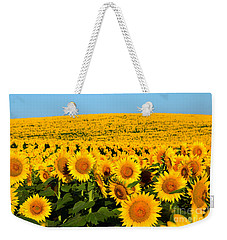 Endless Sunflowers Weekender Tote Bag
