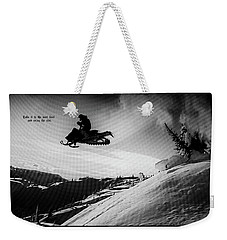 Weekender Tote Bag featuring the photograph Endorphin High  by Dennis Baswell
