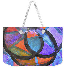 Weekender Tote Bag featuring the mixed media Energy Flow by Riana Van Staden