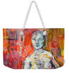 Energy In Stillness Weekender Tote Bag by Mary Schiros