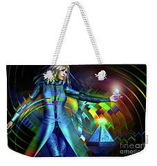 Weekender Tote Bag featuring the digital art Energy by Shadowlea Is