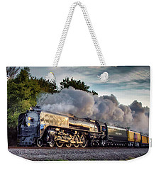 Engine 844 At The Dora Crossing Weekender Tote Bag by James Barber