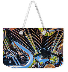 Weekender Tote Bag featuring the photograph Engine Chrome by Samuel M Purvis III