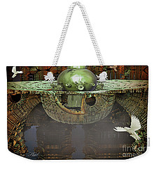 Weekender Tote Bag featuring the digital art Engine Room Fractal by Melissa Messick