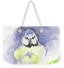 English Blue Tit Weekender Tote Bag