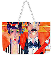 English Couple Weekender Tote Bag