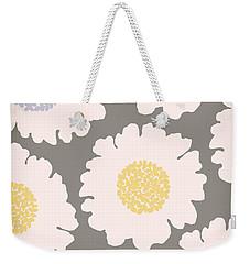 English Garden White Flower Pattern Weekender Tote Bag