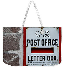 English Letter Box Weekender Tote Bag by Mary-Lee Sanders