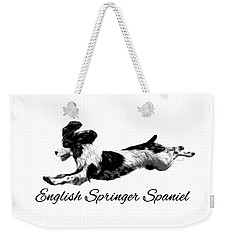 Weekender Tote Bag featuring the digital art English Springer Spaniel by Ann Lauwers