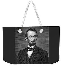 Engraving Of Portrait Of Abraham Lincoln From Brady Photograph Weekender Tote Bag