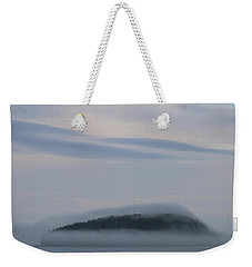 Weekender Tote Bag featuring the photograph Engulfed In Fog by Living Color Photography Lorraine Lynch