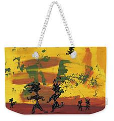 Weekender Tote Bag featuring the painting Enjoy Dancing by Manuel Sueess