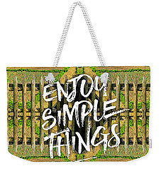 Enjoy Simple Things Marie Antoinette Hamlet Versailles Weekender Tote Bag