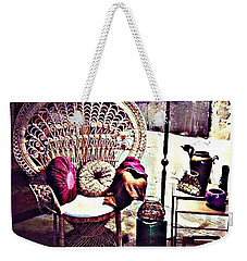 Weekender Tote Bag featuring the digital art Enjoy The Silence by Lucia Sirna