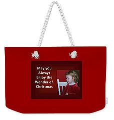 Weekender Tote Bag featuring the digital art Enjoy The Wonder Of Christmas by Sonya Nancy Capling-Bacle