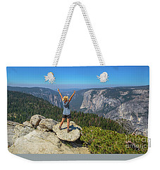 Enjoying At Yosemite Summit Weekender Tote Bag