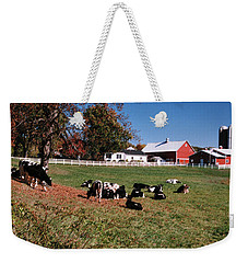 Enjoying The Autumn Pasture Weekender Tote Bag