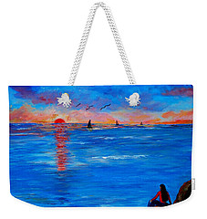 Enjoying The Sunset Differently Weekender Tote Bag