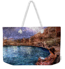 Enjoying The View On The Beach At Nice, France. Weekender Tote Bag