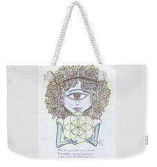 Enlightened Alien Weekender Tote Bag by Similar Alien