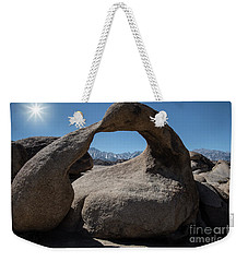 Weekender Tote Bag featuring the photograph Enlightning by Sandra Bronstein