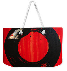 Enso With Koi Red And Gold Weekender Tote Bag