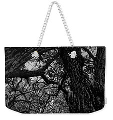 Enter The Woods In Black And White Weekender Tote Bag