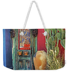 Enter - You Are Always Welcome Weekender Tote Bag by Lucinda Walter