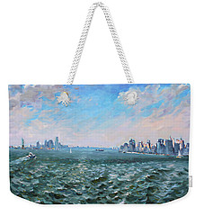 Entering In New York Harbor Weekender Tote Bag by Ylli Haruni