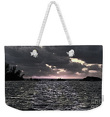 Weekender Tote Bag featuring the photograph Entering The Bermuda Triangle by Luther Fine Art