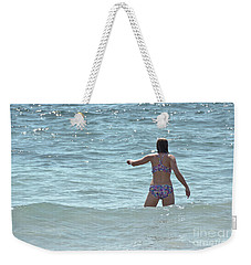 Entering Waves Of Pacific Ocean Weekender Tote Bag by Yurix Sardinelly