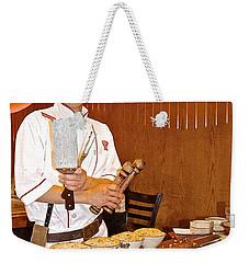 Entertaining Chef At Benihana In Monterey-california Weekender Tote Bag
