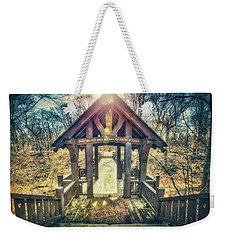 Weekender Tote Bag featuring the photograph Entrance To 7 Bridges - Grant Park - South Milwaukee  by Jennifer Rondinelli Reilly - Fine Art Photography