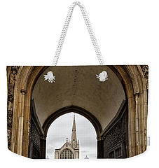 Entrance To Norwich Cathedral  Weekender Tote Bag by Shirley Mitchell