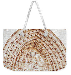 Entrance To Notre Dame Cathedral Weekender Tote Bag