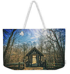 Weekender Tote Bag featuring the photograph Entrance To Seven Bridges - Grant Park - South Milwaukee #3 by Jennifer Rondinelli Reilly - Fine Art Photography