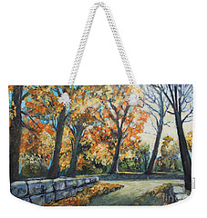 Entrance To The Greenhouse Weekender Tote Bag by Rita Brown