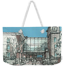 Entry Plaza Weekender Tote Bag by Andrew Drozdowicz