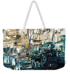 Weekender Tote Bag featuring the painting Envisioning by Carmen Guedez