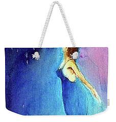 Weekender Tote Bag featuring the painting Enzi by Ed Heaton