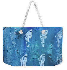 Weekender Tote Bag featuring the painting Eolith II by Robin Maria Pedrero