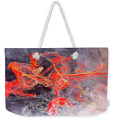 Epigenesis - Red Abstract Art Photography Weekender Tote Bag by Modern Art Prints